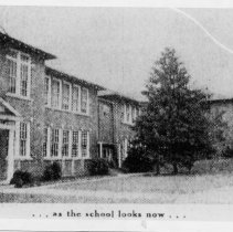 """Image of North Main Street School - North Main Street School, Mount Airy.  Note at the bottom of picture says """"as the school looks now"""""""