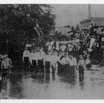 Image of Baptism at Lovill's Creek - Baptism in Lovill's Creek. Sides Mill in Background.