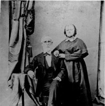 "Image of John Banner and Virginia Moore Banner - Portrait of John Banner and Virginia Moore Banner, for whom Bannertown was named.  Note on back of picture says, ""son of Charles"" and the date 1871 is also noted."