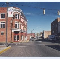 Image of Main Street, Mount Airy - Main Street, Mount Airy, looking north.  Mount Airy Museum of Regional History building is on the left.