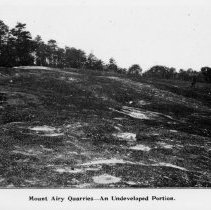 Image of Mount Airy Quarries - Granite Quarry, Mount Airy - an undeveloped portion