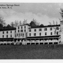 Image of White Sulphur Springs Hotel - White Sulphur Springs Hotel near Mount Airy.  Building is no longer standing.