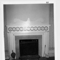 Image of Gwyn-Foard House - Gwyn-Foard House, 115 Circle Ct., Elkin.  Fireplace detail.  For more information, see SIMPLE TREASURES, page 93.  State Record 574.
