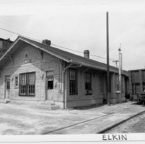 Image of Elkin Train Depot - (Former) Elkin Train Depot.  Building is no longer standing.  State Record 587.