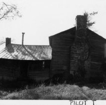 Image of Augustan Stone House - Augustan Stone House, NC 268, Pilot Mountain vicinity, built in 1857.  For more information see SIMPLE TREASURES page 190 and state record 92.