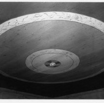 Image of Flinchum House Ceiling - Flinchum House, SR 2047, Pilot Mountain vicinity.  Unusual ceiling in parlor.  For more information, see SIMPLE TREASURES pate 192 and state record 52.