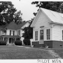 "Image of Flippin Office - Dr. R. E. L. Flippin Office.NW corner W. Main and Stephens St. Pilot Mountain. He lived next door.. See state record (634)..For more information see Simple Treasures  199. ""Dr. Big Bob"" was his nickname.."