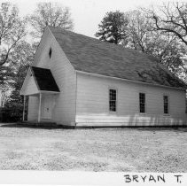 Image of Primitive Baptist Church - State Road Primitive Baptist Church located in Bryan Township in Surry County, North Carolina. (for further information refer to SIMPLE TREASURES pages 23 and 62.