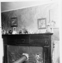 Image of Mantel, Reeves-Hardy House - Mantel, Reeves-Hardy House, SR 2080, Siloam Township.  The mantel is one of the most outstanding from the early 19th century period remaining in Surry County.  For more information see SIMPLE TREASURES page 242 and 14, and state record 182.