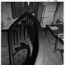 Image of Stairwell, Atkinson-Fulk House - Stairwell, Atkinson-Fulk House, SR 2080, Siloam Township.  For more information, see SIMPLE TREASURES pages 19, 20, and 243, also State Record 178.