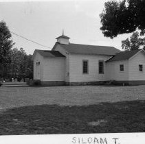 Image of Pine Hill Methodist Episcopal Church - Pine Hill Methodist Episcopal Church, NC 268, Pine Hill vicinity, Siloam Township, established 1853.  For more information, see SIMPLE TREASURES page 240 and State Record 163.