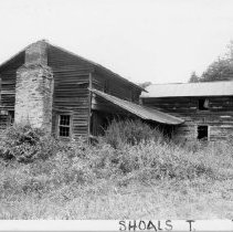 Image of Samuel Scott House - Samuel Scott House, SR 2078, Shoals vicinity, built mid-nineteenth century.  Abandoned and badly deteriorated.  For more information see SIMPLE TREASURES page 235 and State Record 129.