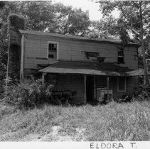 Image of Atkinson-Reid House - Atkinson-Reid House, SR 2038, Eldora Township, built mid 19th century, abandoned and badly deteriorated.  For more information see SIMPLE TREASURES page 82 and State Record 50.