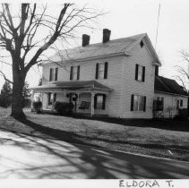 Image of Hall-Venable House - Hall-Venable House, SR 1003, Level Cross vicinity, Eldora Township, typical late 19th century or early 20th century farmhouse.  For more information see SIMPLE TREASURES page 80 and State Record 254.