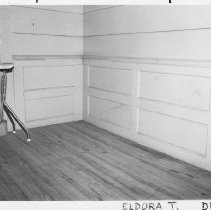 Image of Wainscoting - Interior detail,  Isaac Copeland House, built late 18th century.  For more information see SIMPLE TREASURES page 85 and State Record 252.
