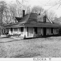 Image of George Washington Bowman House - George Washington Bowman House, SR 2207, Level Cross vicinity, Eldora Township, Victorian cottage built 1924.  For more information see SIMPLE TREASURES page 84 and State Record 253.