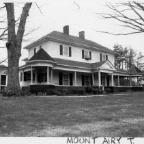 Image of Hutchens House - C. C. Hutchens home, White Plains, North Carolina in Mount Airy Township. See SIMPLE TREASURES Page 143.