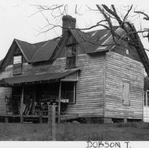 Image of Peter Brown House - Peter Brown House located in Dobson Township, Surry County, North Carolina.  Peter Brown was a well-respected local carpenter who embellished his own otherwise simple house with a variety of special details.  See SIMPLE TREASURES page 71.