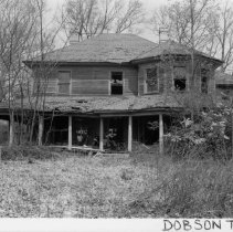 Image of Tom Martin House - Tom Martin House located in Dobson Township, Surry County, North Carolina.  Probably built during the early years of the twentieth century, the house was once an impressive Colonial Revival country dwelling.