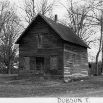 Image of L. Johnson Store - L. Johnson Store, SR 2218, Dobson vicinity, photo which includes outbuildings in rear.  Store was operated in early 20th century, and also served for several years as the Bridge, NC post office.  For more information see SIMPLE TREASURES page 73 and State Record 485.