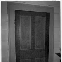 Image of Grained Door - Grained door, Reeves-Freeman House, N. Main St., Dobson.  For more information see SIMPLE TREASURES pages 31 and 77, and State Record 488.