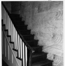 Image of Reeves-Freeman House - Stair and marbled wall, Reeves-Freeman House, North Main Street, Dobson.  For more information, see SIMPLE TREASURES pages 30 and 77, and State Record 488.