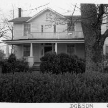 Image of Reeves-Freeman House - Reeves-Freeman House, North Main Street, Dobson, built ca. 1850.  For several years it served as a law office.  For more information see SIMPLE TREASURES page 77 and State Record 488.