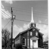 Image of Dobson Methodist Church - Dobson Methodist Church, Dobson . See also SIMPLE TREASURES page78 and State Record 493.