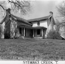 Image of Edgar Smith House - Edgar Smith House, SR 1602, Stewarts Creek Township, probably built late 19th century.  For more information see SIMPLE TREASURES page 261 and State Record 444.