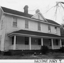 Image of Red Hill Farm - Red Hill Farm, SR 1704, Mount Airy vicinity, farmhouse built during the late 19th or early 20th century.  For more information see SIMPLE TREASURES page 138 and State Record 437.