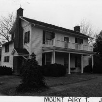 Image of Rusus Roberts House - Rufus Roberts House, SR 1701 (9 Lakemont Trail), Mount Airy vicinity, probably built ca. 1857 by Rufus Roberts, one of the owners of the Greenhill Cotton Mill.  For more information see SIMPLE TREASURES page 137 and State Record 434.