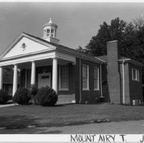 Image of Salem Methodist Church - Salem Methodist Church, SR 1717, Mount Airy Township, Salem vicinity.  The congregation was organized ca. 1850, present building constructed 1922.  For more information see SIMPLE TREASURES page 138 and State Record 43.