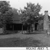 Image of Hiatt House - Jesse Lafayette Hiatt House, SR 1815, Mount Airy vicinity, original log portion probably built during the 1870s.  A one-story frame addition was joined to the log house during early 20th century.  For more information see SIMPLE TREASURES page 139 and State Record 58.