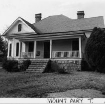Image of Bill Davis House - Bill Davis House, Flat Rock, North Carolina, Mount Airy Township.  This well preserved cottage is typical of the Victorian cottage built in the late nineteenth century and early twentieth.  SEE SIMPLE TREASURES, page 128.
