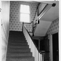 Image of Stairway - Stairway, Charles Whitlock House, Stewarts Creek, Mount Airy vicinity.  For more information see SIMPLE TREASURES page 15.