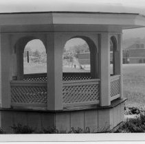 Image of Cupola - Cupola at new Elkin Primary School located in Elkin, North Carolina. School can be seen in background. Note on back of picture: Cupola for 1914(?) school.