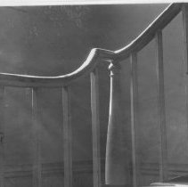 Image of Fulton House - Photograph of the stair railing located in the old Fulton home in Mount Airy, North Carolina.
