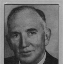 """Image of John Reeves - Newspaper portrait of John Reeves of New York City and Pinehurst, NC.  Reeves Community Building made possible through his donation.  Note on back says, """"Mr. John Reeves, friend of Frank Carter J."""""""