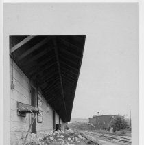 Image of Railway Station - Mount Airy Railway Station, picture located in the Bicentennial Book page 120.