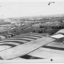 Image of Strip Contour Farming - Strip countour farming in Surry County. Photograph appears on page 63 in THE SURRY COUNTY BOOK, Bicentennial..