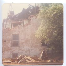 Image of Demolition of Old Dobson Jail - Demolition of Old Dobson Jail.