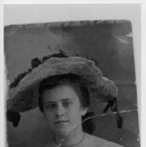 Image of Lettie Hollingsworth - Lettie Hollingsworth.  Copy of original photograph which evidently was bent.