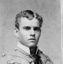 "Image of Young Gentleman - Moore (from Florida) at Bingham School.  Young man in what appears to be a military-type uniform.  Note at bottom of picture reads"" Motes, Atlanta, Ga."""