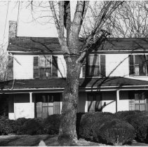 """Image of Solomon Graves House - Solomon Graves House, 515 S. Main Street, Mount Airy.  Notes on back of picture: """"Antebellum homeplace of Solomon Graves, prominent lawyer of the 1840s and Mount Airy's first.  Known as old Fulton Place.  Across from Friends Church - Torn down."""""""