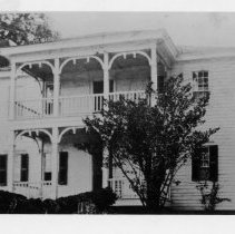 "Image of Robert S. Gilmer House - Robert ""Bobby"" Gilmer House, built by Jacob Brower, South Main Street, Mount Airy.  Served for a time as a girls' school.  Torn down about 1915 to make room for Mount Airy High School."