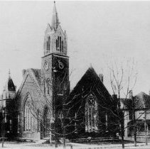 Image of Central Methodist Church - Central Methodist Church, Franklin Street, Mount Airy, early 1900s.  Building stood from 1894 to 1966.