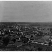 Image of Mount Airy - Mount Airy looking from Blue Ridge, overlooking Willow Street. Panoramic view.  From a copy in North Carolina Collection, UNC Library, Chapel Hill.