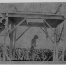 Image of Public Hanging - Public hanging of John Jack Mayes, Dobson, November 1898.  Newspaper articles by Ruth Minick provide details.