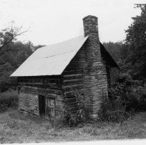Image of Log House - House located in Ararat vicinity, Eldora Township, Surry county, North Carolina on State Road 2026., one room log structure.