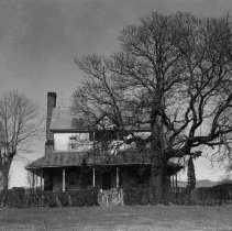 Image of Jesse Franklin House - Jesse Franklin House, Lowgap, looking north.  Demolished in 1968.  Picture courtesy of Walter Mason (per Ruth Minick)